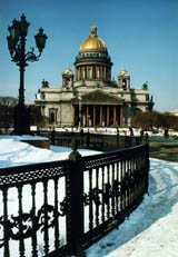 St Isaac's Cathedral in winter