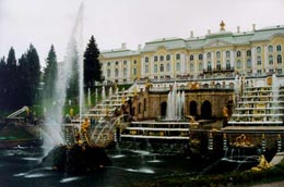 Peterhof fontains