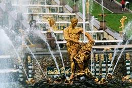 Peterhof Grand Palace fontains