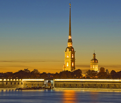 St. Petersburg Museum of History(the Nevskaya Curtain Wall of The Peter and Paul Fortress)
