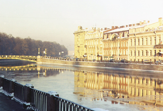 Fontanka river embankment - one of the beautiful sight of St. Petersburg