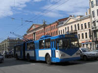 St Petersburg city tram